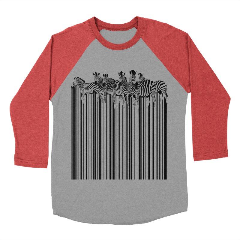 zebra barcode Men's Baseball Triblend T-Shirt by filsoofdesigns's Artist Shop