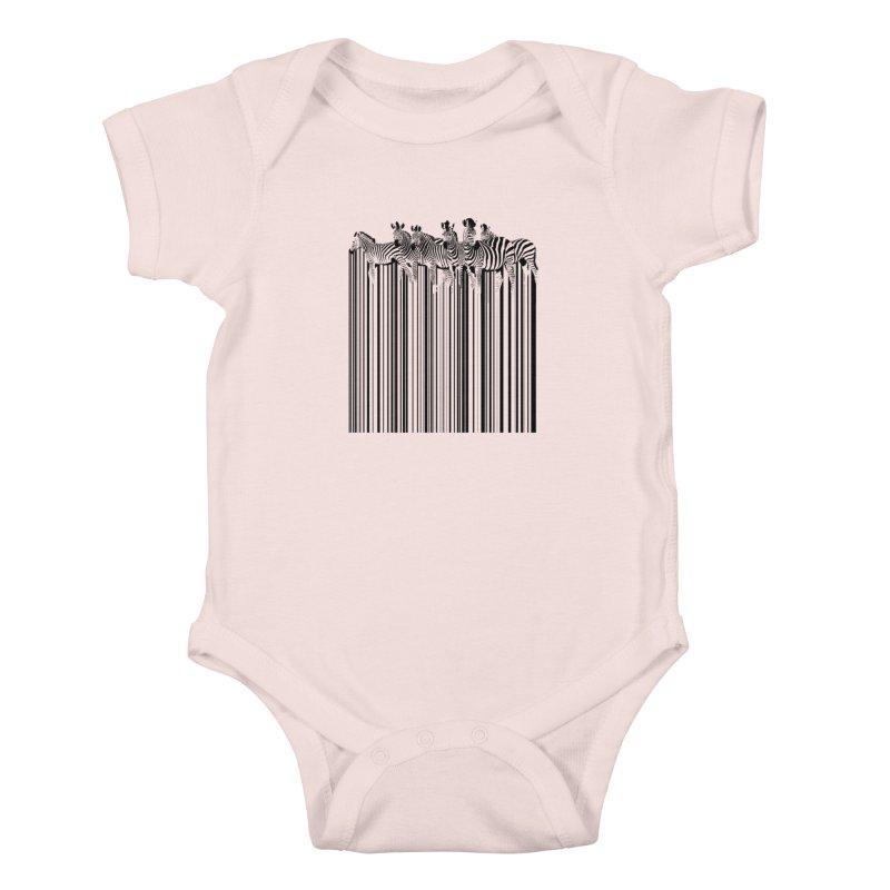 zebra barcode Kids Baby Bodysuit by filsoofdesigns's Artist Shop