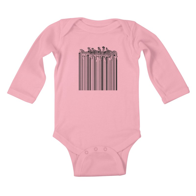 zebra barcode Kids Baby Longsleeve Bodysuit by filsoofdesigns's Artist Shop