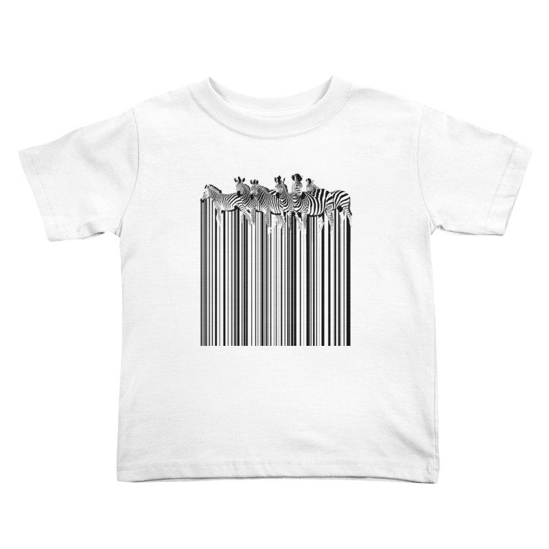 zebra barcode Kids Toddler T-Shirt by filsoofdesigns's Artist Shop