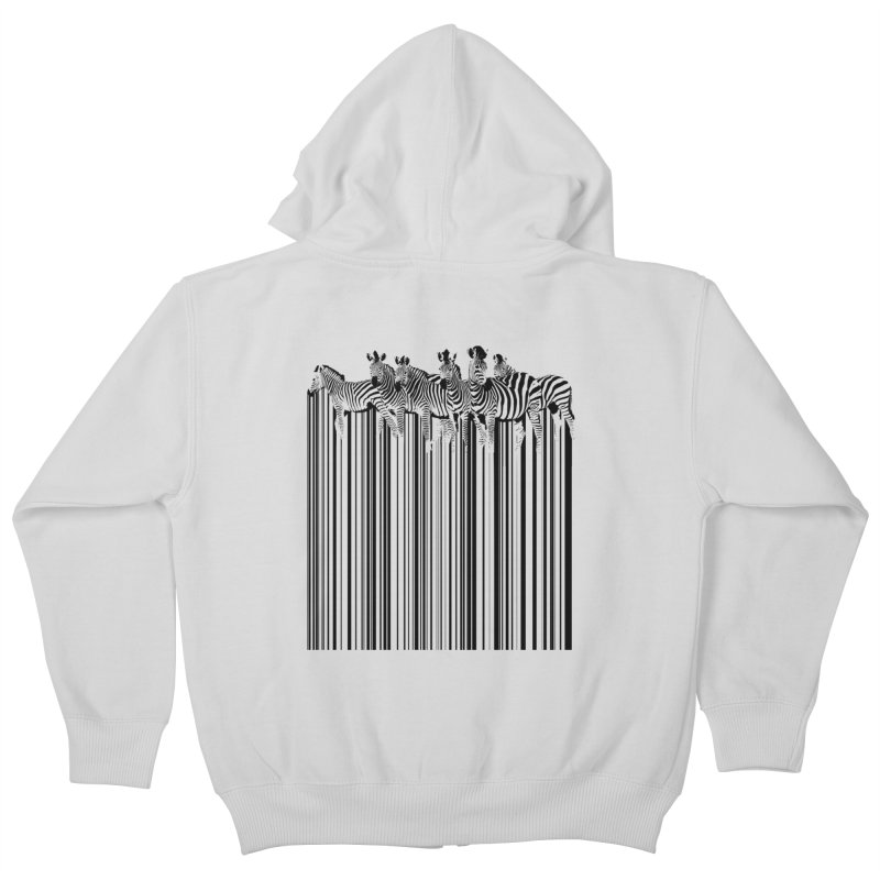 zebra barcode Kids Zip-Up Hoody by filsoofdesigns's Artist Shop