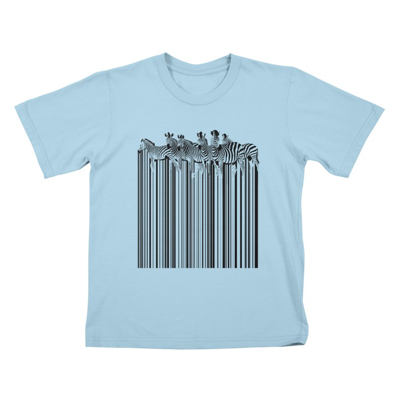 zebra barcode Kids T-shirt by filsoofdesigns's Artist Shop