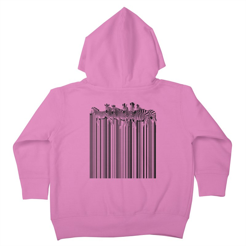 zebra barcode Kids Toddler Zip-Up Hoody by filsoofdesigns's Artist Shop