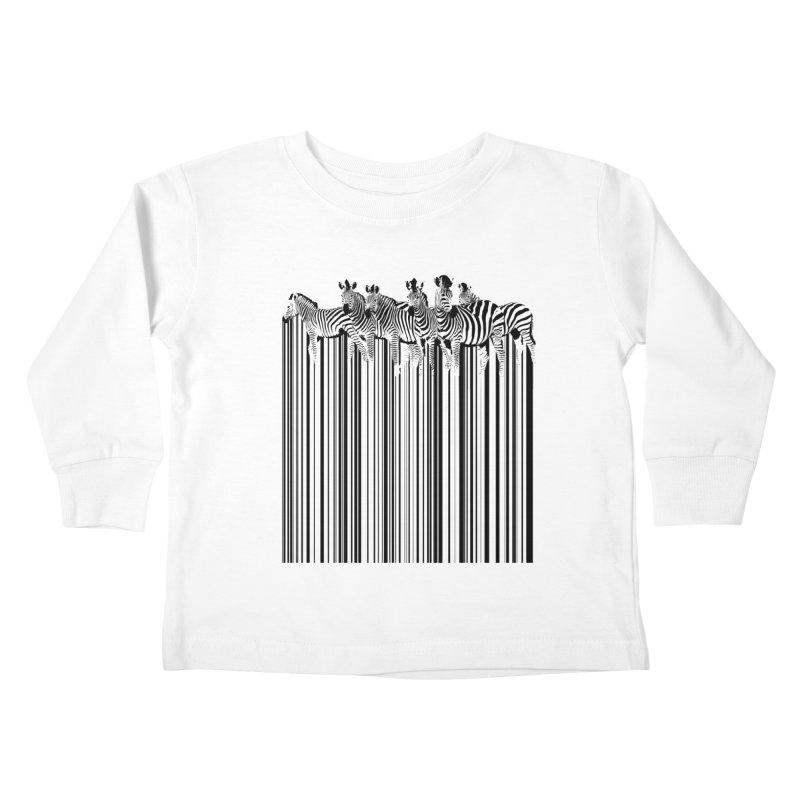 zebra barcode Kids Toddler Longsleeve T-Shirt by filsoofdesigns's Artist Shop