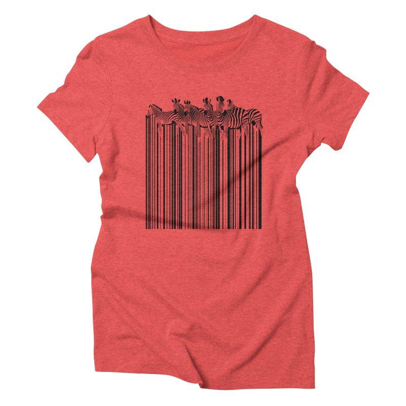 zebra barcode Women's Triblend T-shirt by filsoofdesigns's Artist Shop