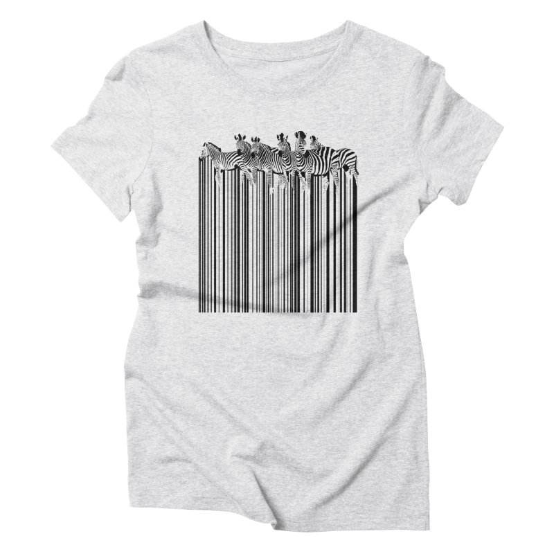 zebra barcode Women's Triblend T-Shirt by filsoofdesigns's Artist Shop