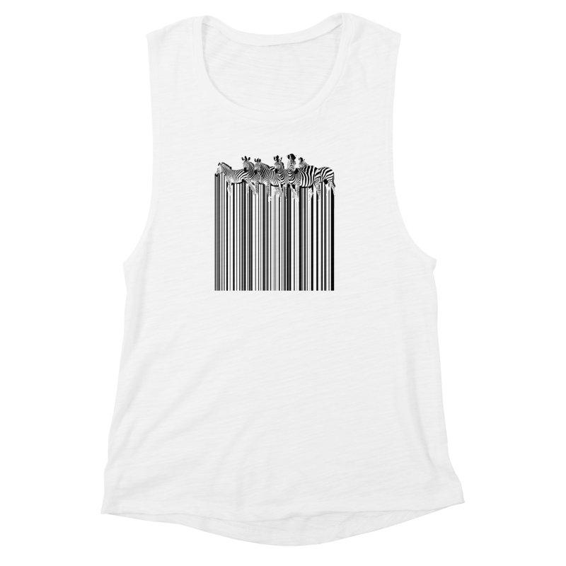 zebra barcode Women's Muscle Tank by filsoofdesigns's Artist Shop