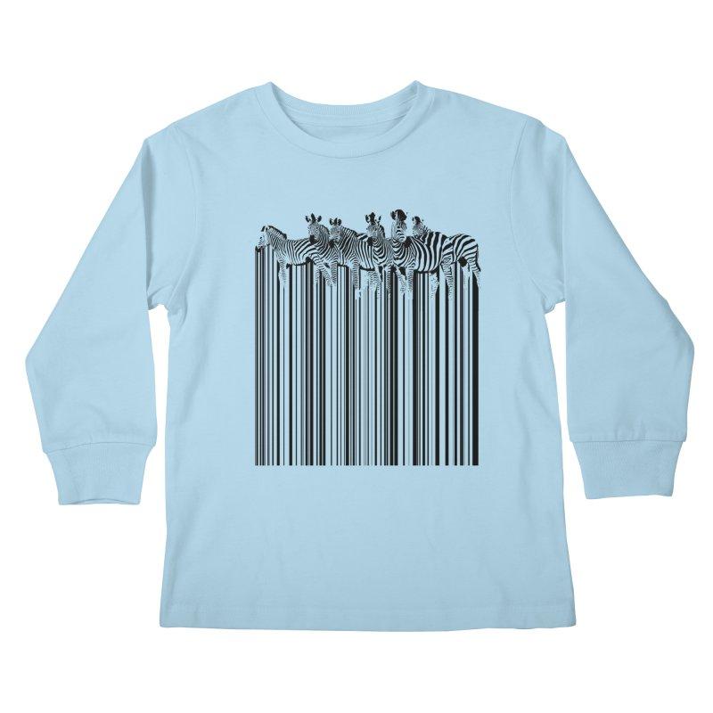 zebra barcode Kids Longsleeve T-Shirt by filsoofdesigns's Artist Shop