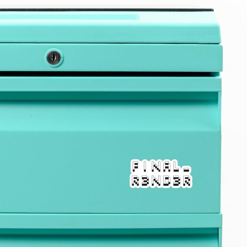 FINAL_R3ND3R logo Accessories Magnet by FinalRender Shop