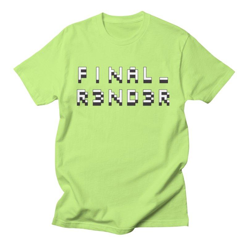FINAL_R3ND3R logo Men's T-Shirt by FinalRender Shop