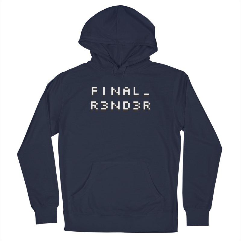FINAL_R3ND3R logo Men's Pullover Hoody by FinalRender Shop