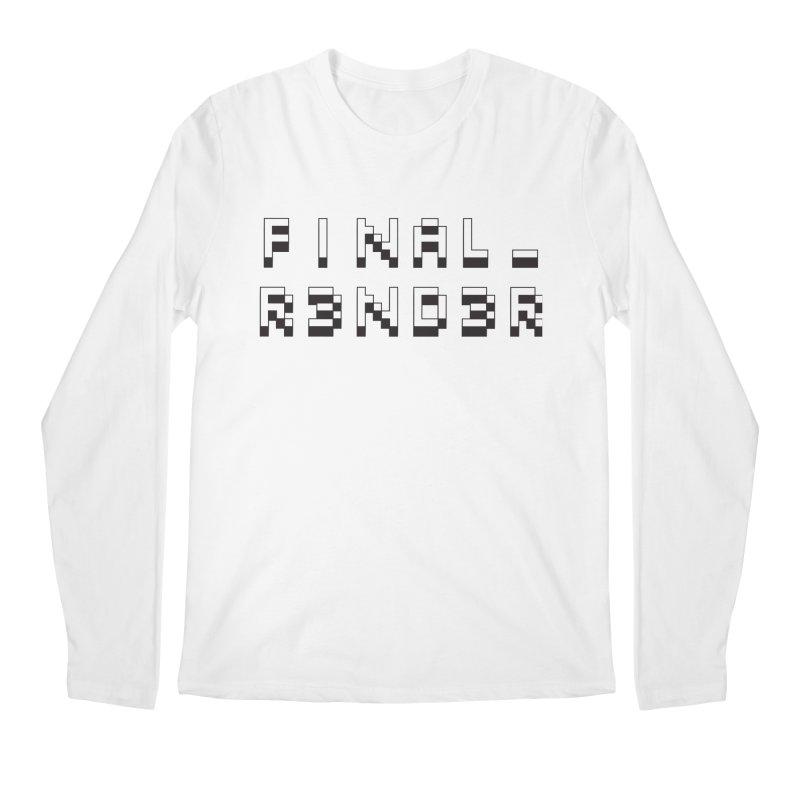 FINAL_R3ND3R logo Men's Longsleeve T-Shirt by FinalRender Shop