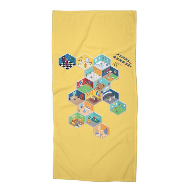 Isometric Rooms Accessories Beach Towel by FinalRender Shop