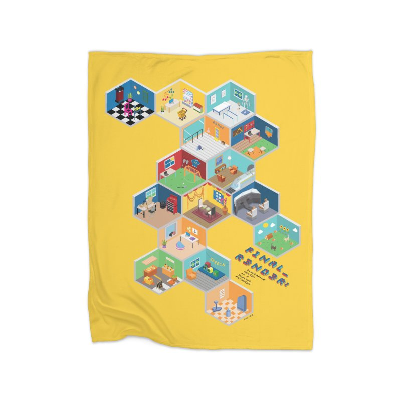 Isometric Rooms Home Blanket by FinalRender Shop