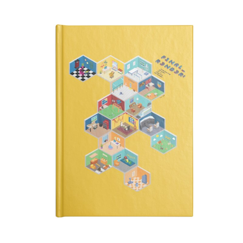 Isometric Rooms Accessories Notebook by FinalRender Shop