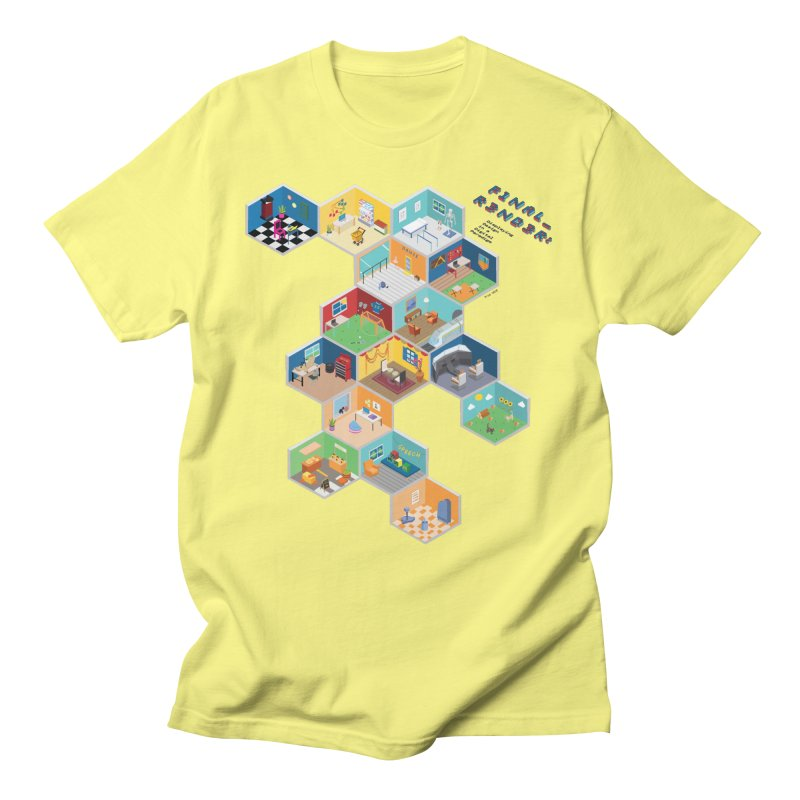 Isometric Rooms Men's T-Shirt by FinalRender Shop