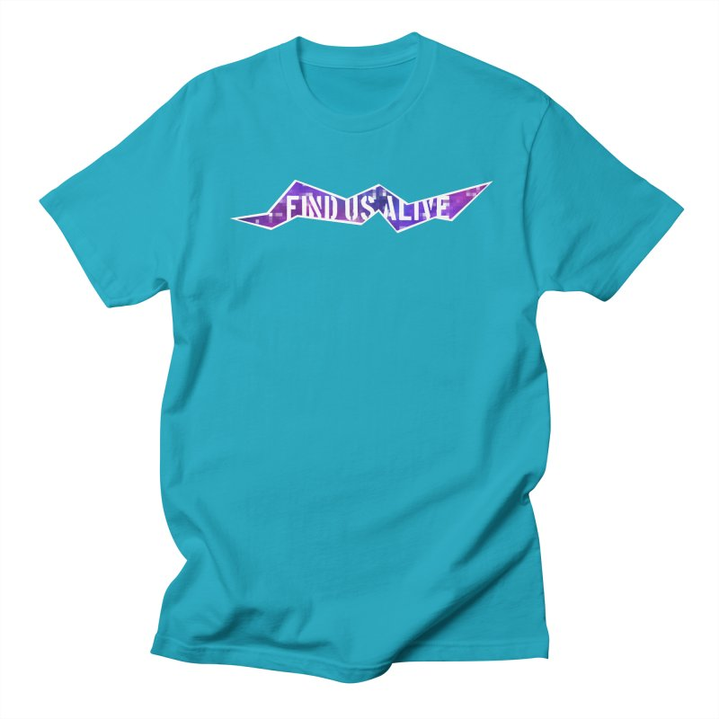 Pixel Rift Title Men's T-Shirt by Find Us Alive Official Merch