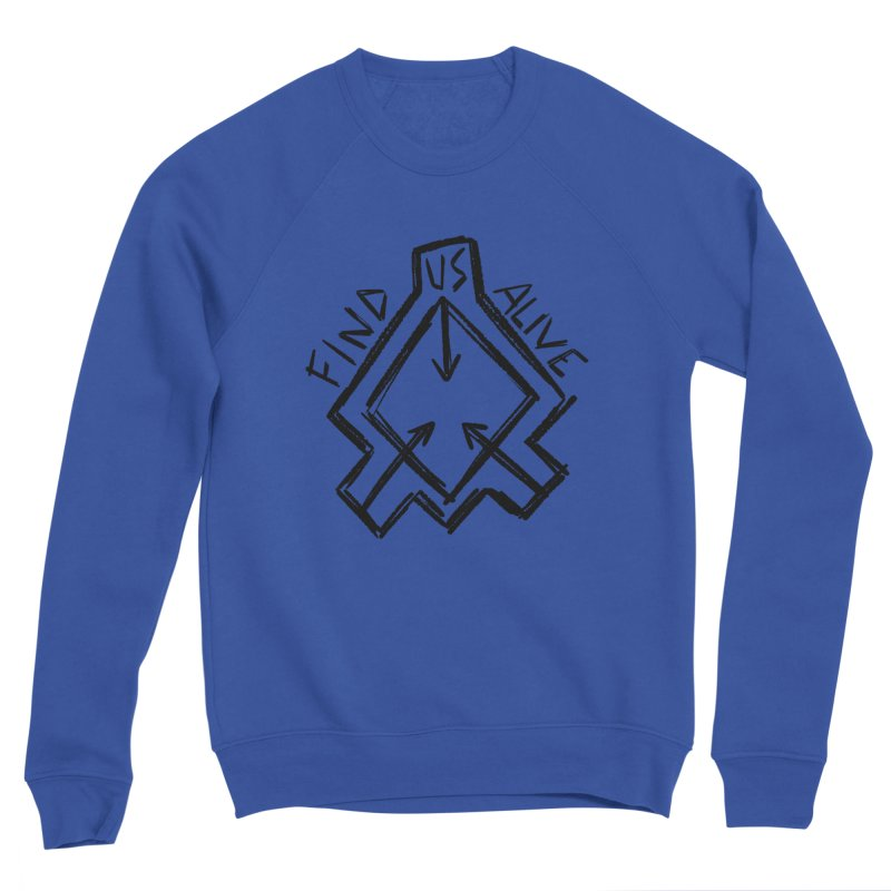 Sketchy Logo Black Women's Sweatshirt by Find Us Alive Official Merch