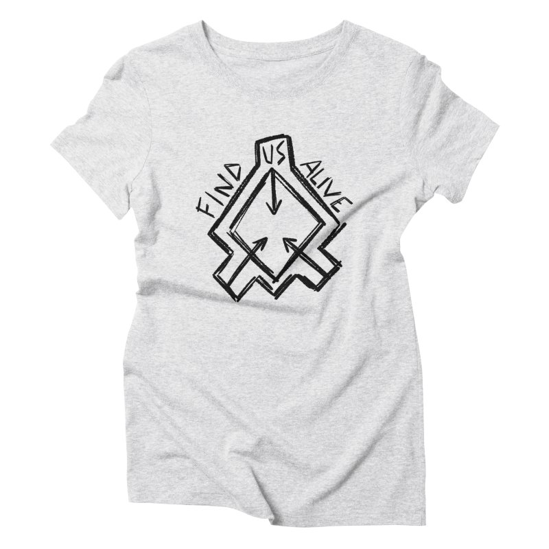 Sketchy Logo Black Women's T-Shirt by Find Us Alive Official Merch