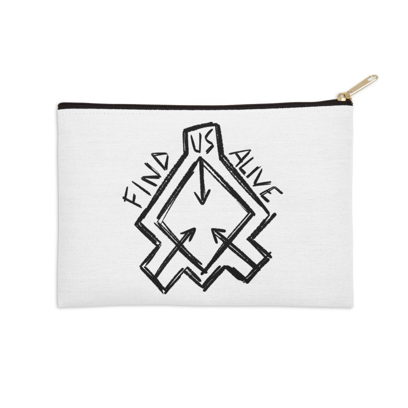 Sketchy Logo Black Accessories Zip Pouch by Find Us Alive Official Merch