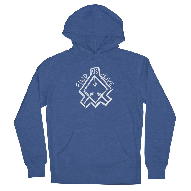 Sketchy Logo White Women's Pullover Hoody by Find Us Alive Official Merch