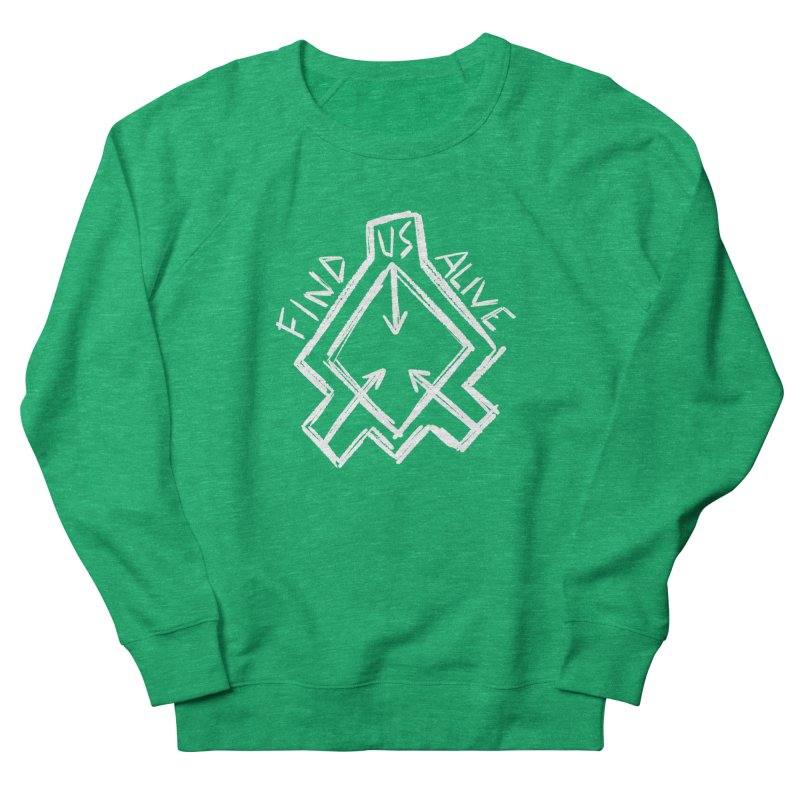 Sketchy Logo White Women's Sweatshirt by Find Us Alive Official Merch