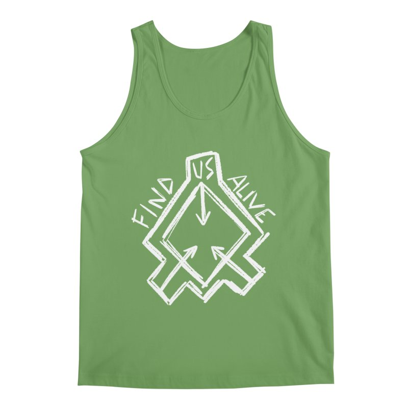 Sketchy Logo White Men's Tank by Find Us Alive Official Merch