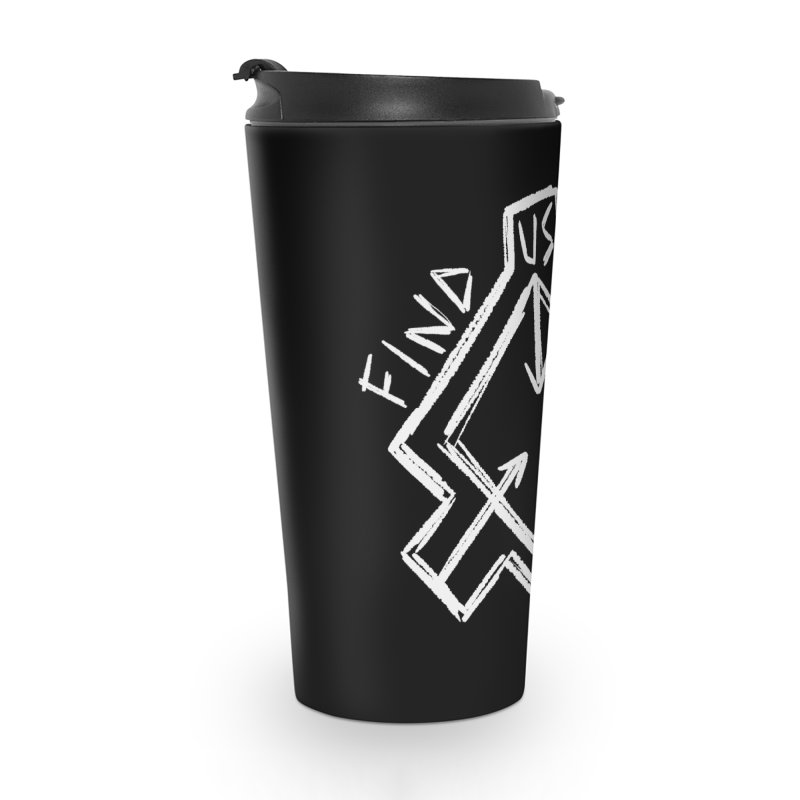 Sketchy Logo White Accessories Mug by Find Us Alive Official Merch