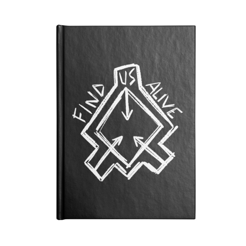 Sketchy Logo White Accessories Notebook by Find Us Alive Official Merch