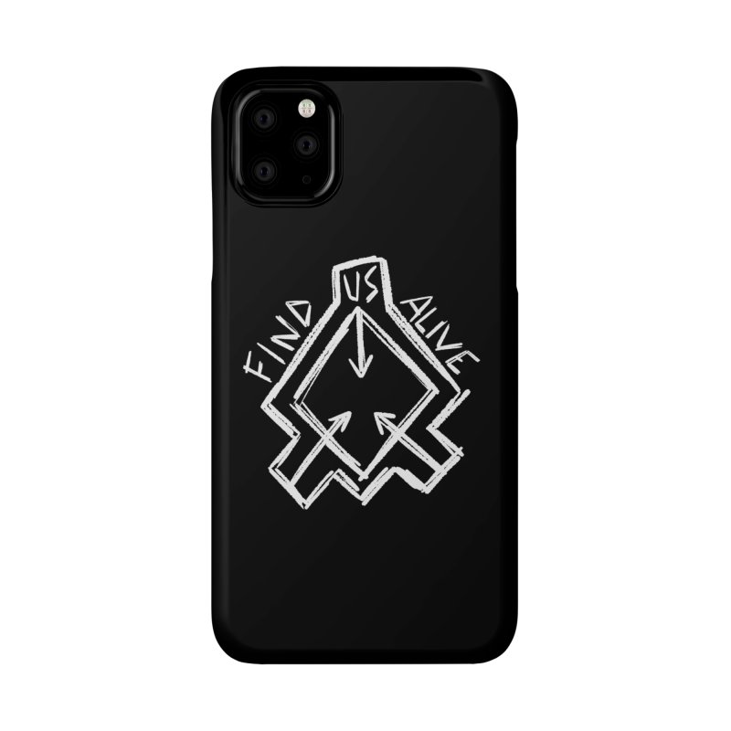 Sketchy Logo White Accessories Phone Case by Find Us Alive Official Merch
