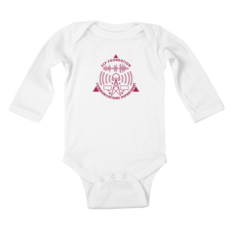 SCP Communications Department Kids Baby Longsleeve Bodysuit by Find Us Alive Official Merch