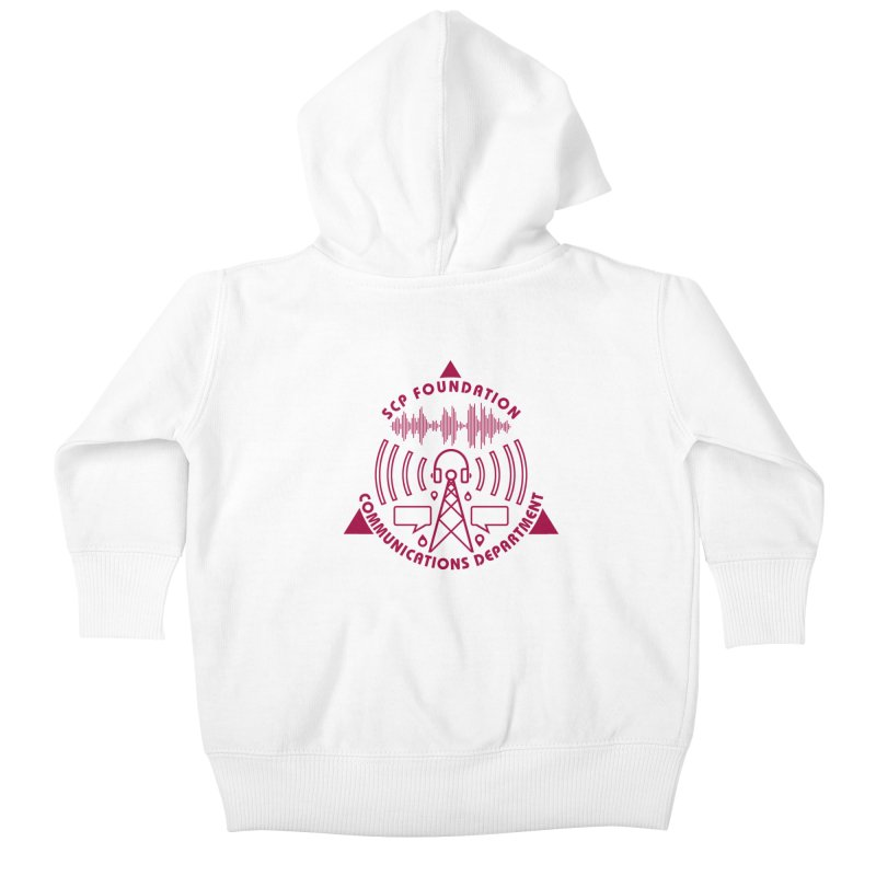 SCP Communications Department Kids Baby Zip-Up Hoody by Find Us Alive Official Merch