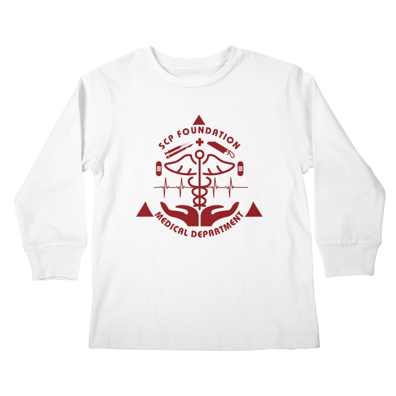 SCP Medical Department Kids Longsleeve T-Shirt by Find Us Alive Official Merch