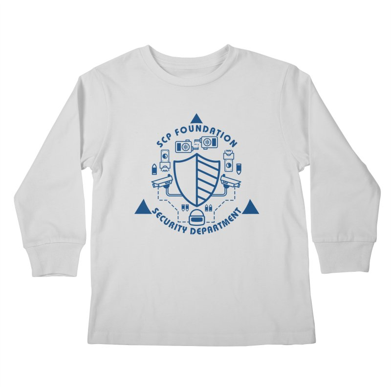 SCP Security Department Kids Longsleeve T-Shirt by Find Us Alive Official Merch