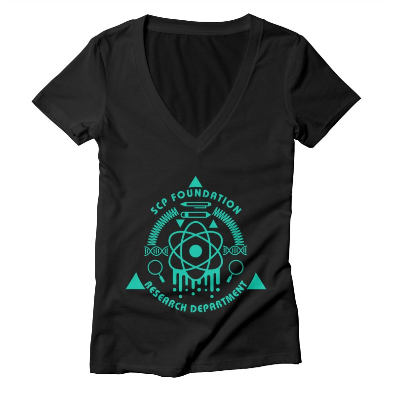SCP Research Department Women's V-Neck by Find Us Alive Official Merch