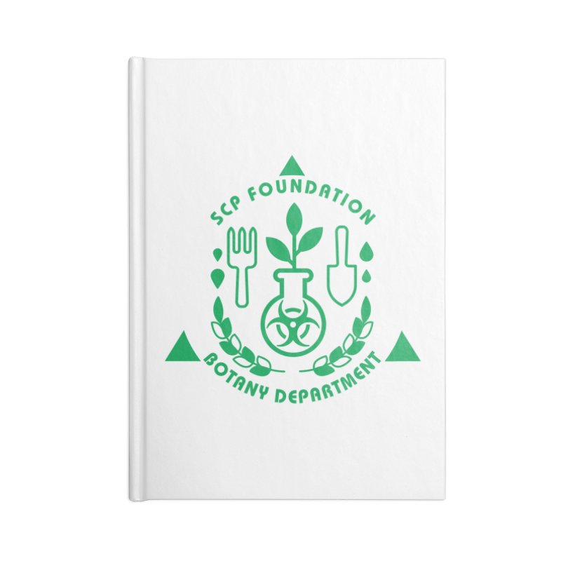 SCP Botany Department Accessories Notebook by Find Us Alive Official Merch