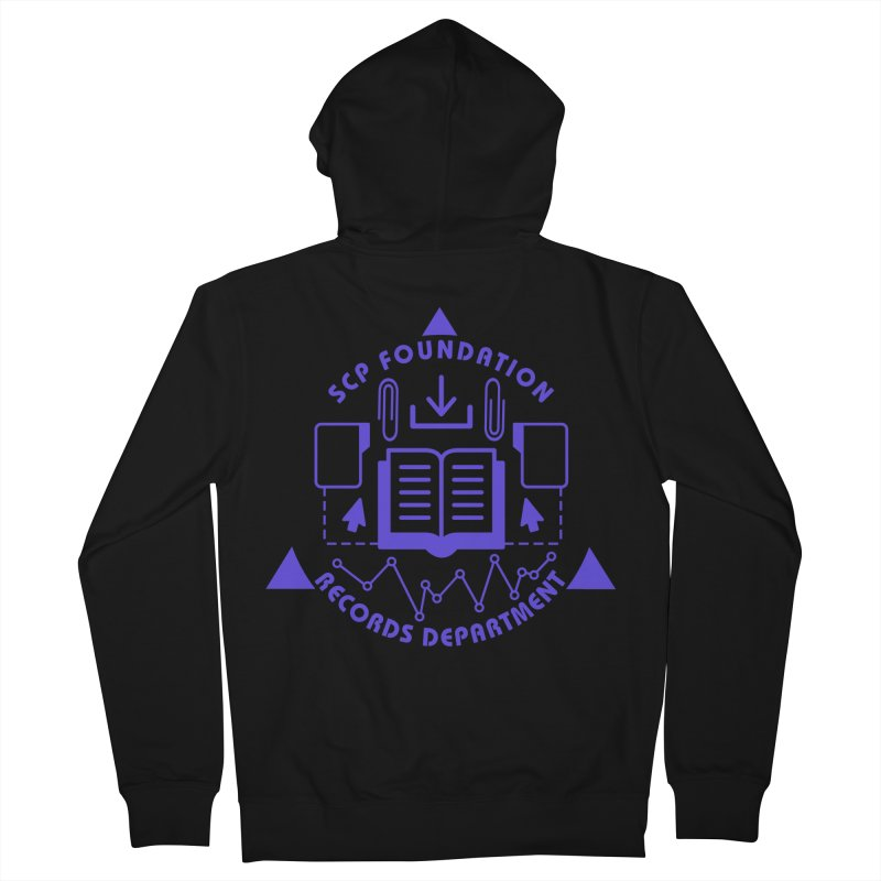 SCP Records Department Men's Zip-Up Hoody by Find Us Alive Official Merch