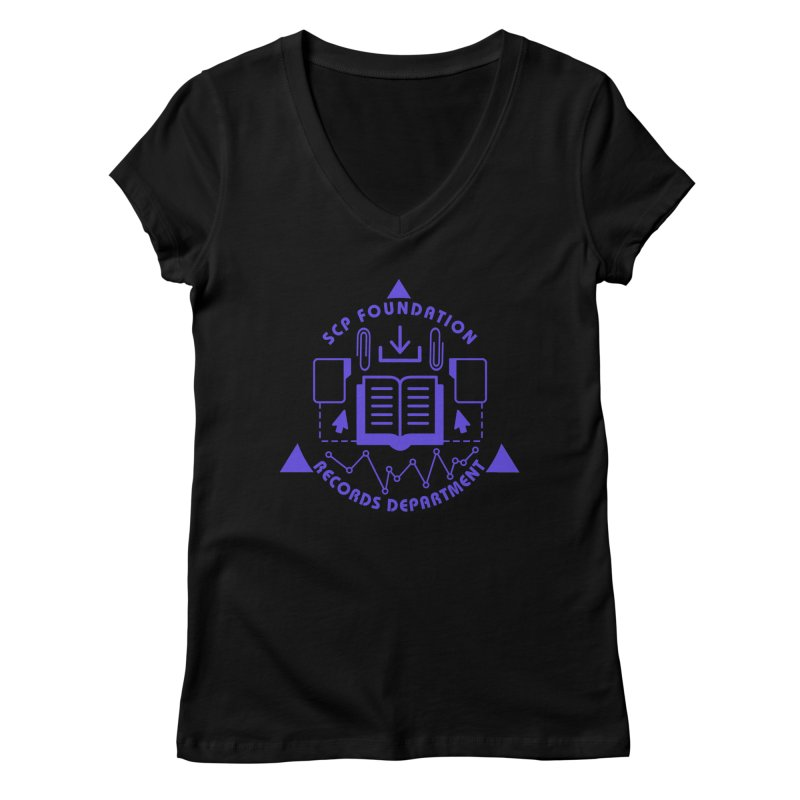 SCP Records Department Women's V-Neck by Find Us Alive Official Merch