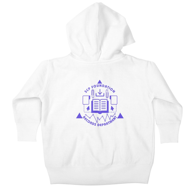 SCP Records Department Kids Baby Zip-Up Hoody by Find Us Alive Official Merch