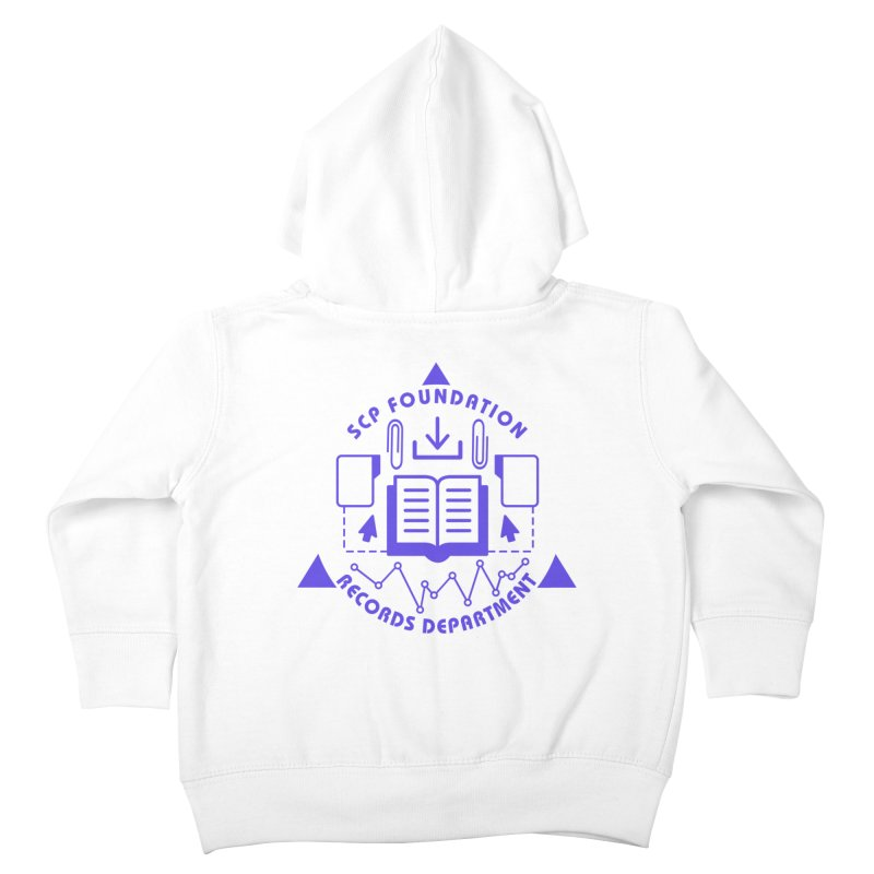 SCP Records Department Kids Toddler Zip-Up Hoody by Find Us Alive Official Merch