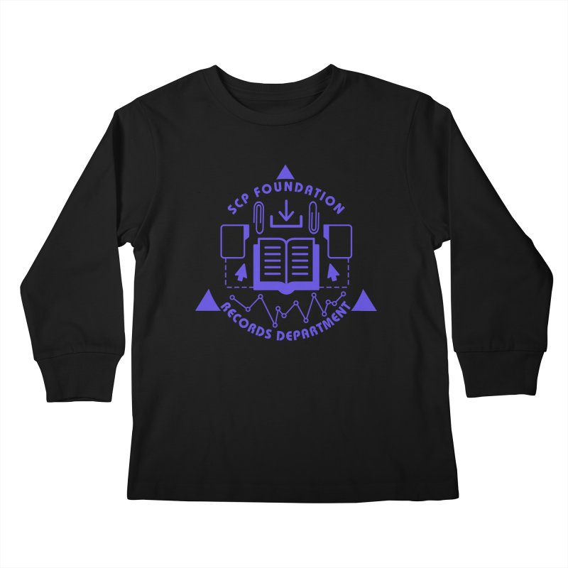 SCP Records Department Kids Longsleeve T-Shirt by Find Us Alive Official Merch