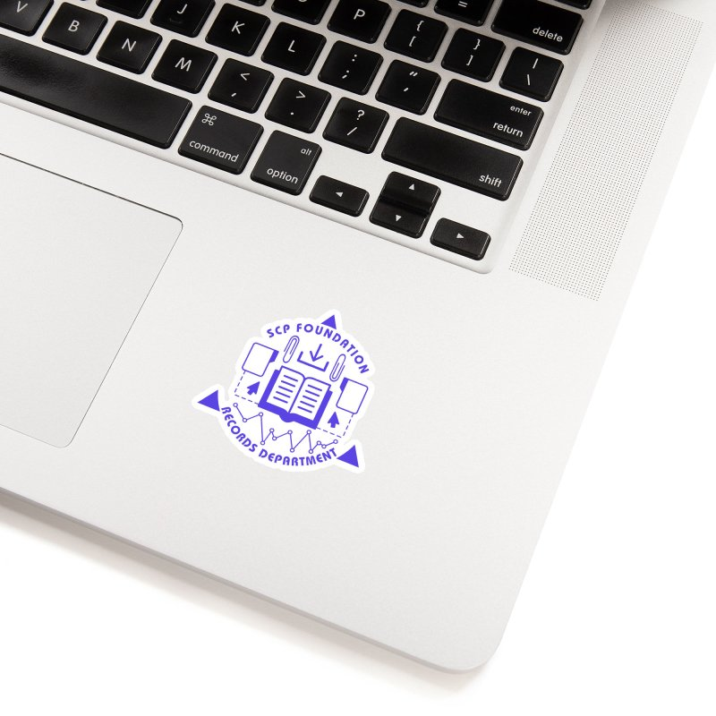 SCP Records Department Accessories Sticker by Find Us Alive Official Merch