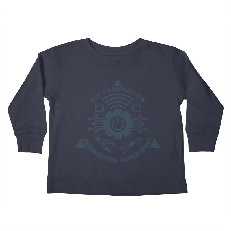 SCP Engineering Department Kids Toddler Longsleeve T-Shirt by Find Us Alive Official Merch