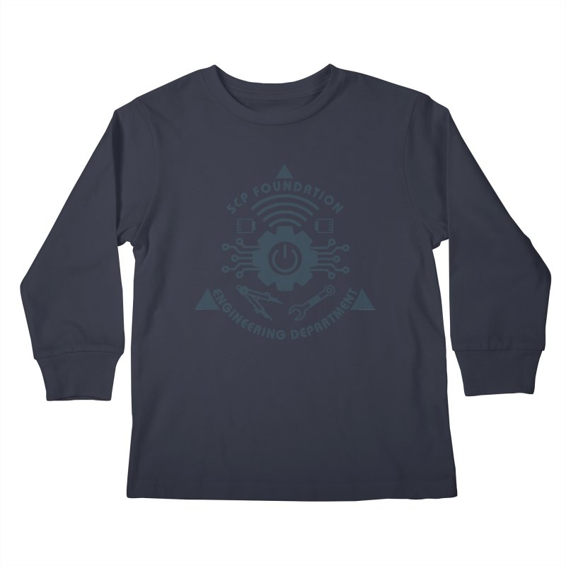 SCP Engineering Department Kids Longsleeve T-Shirt by Find Us Alive Official Merch