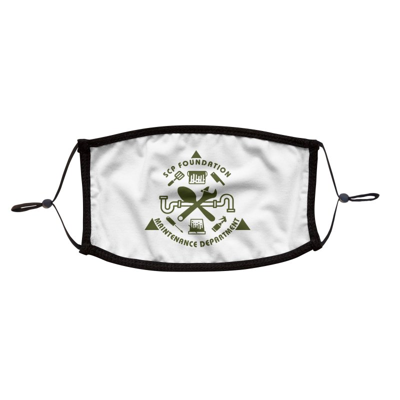 SCP Maintenance Department Accessories Face Mask by Find Us Alive Official Merch