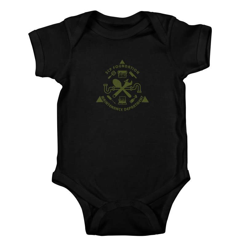 SCP Maintenance Department Kids Baby Bodysuit by Find Us Alive Official Merch