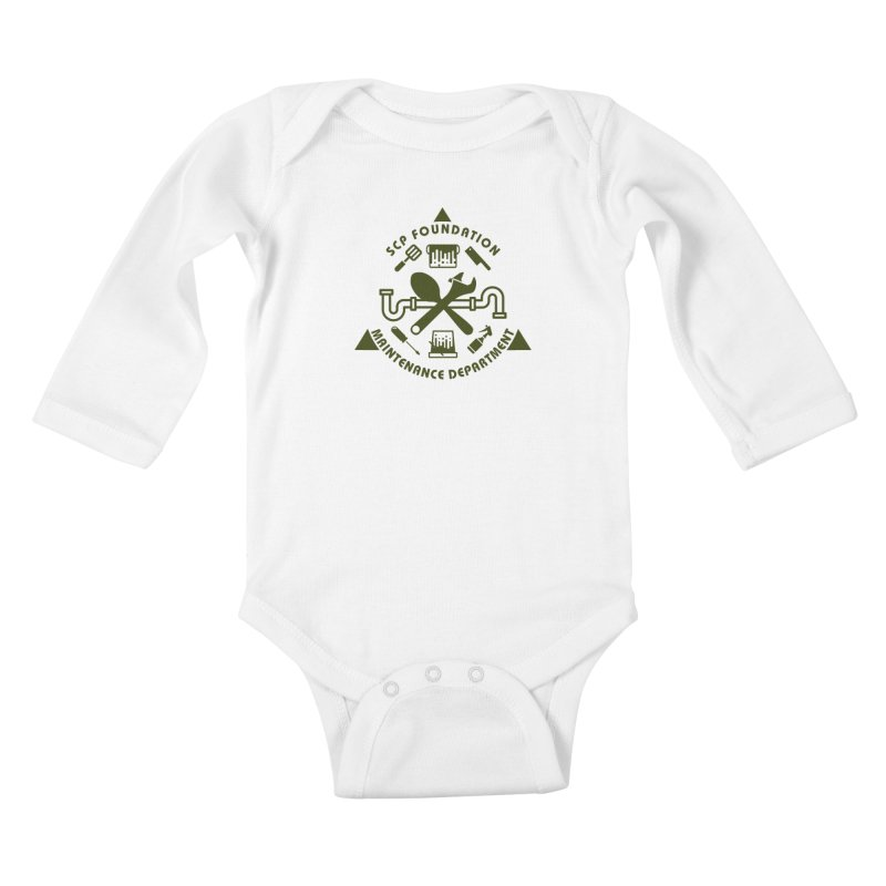 SCP Maintenance Department Kids Baby Longsleeve Bodysuit by Find Us Alive Official Merch