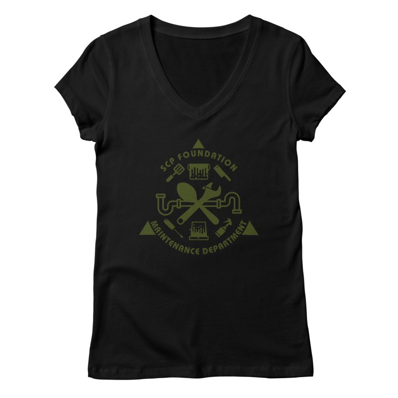 SCP Maintenance Department Women's V-Neck by Find Us Alive Official Merch
