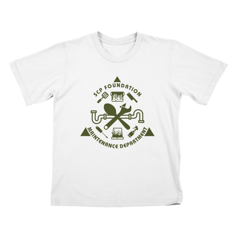 SCP Maintenance Department Kids T-Shirt by Find Us Alive Official Merch