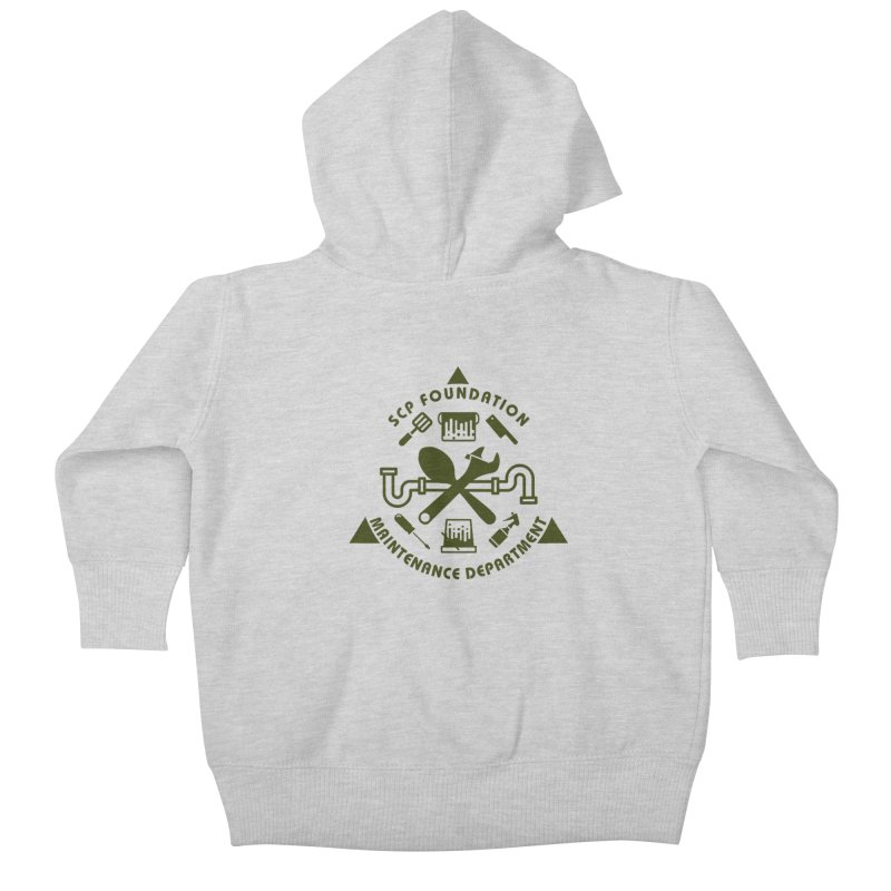 SCP Maintenance Department Kids Baby Zip-Up Hoody by Find Us Alive Official Merch
